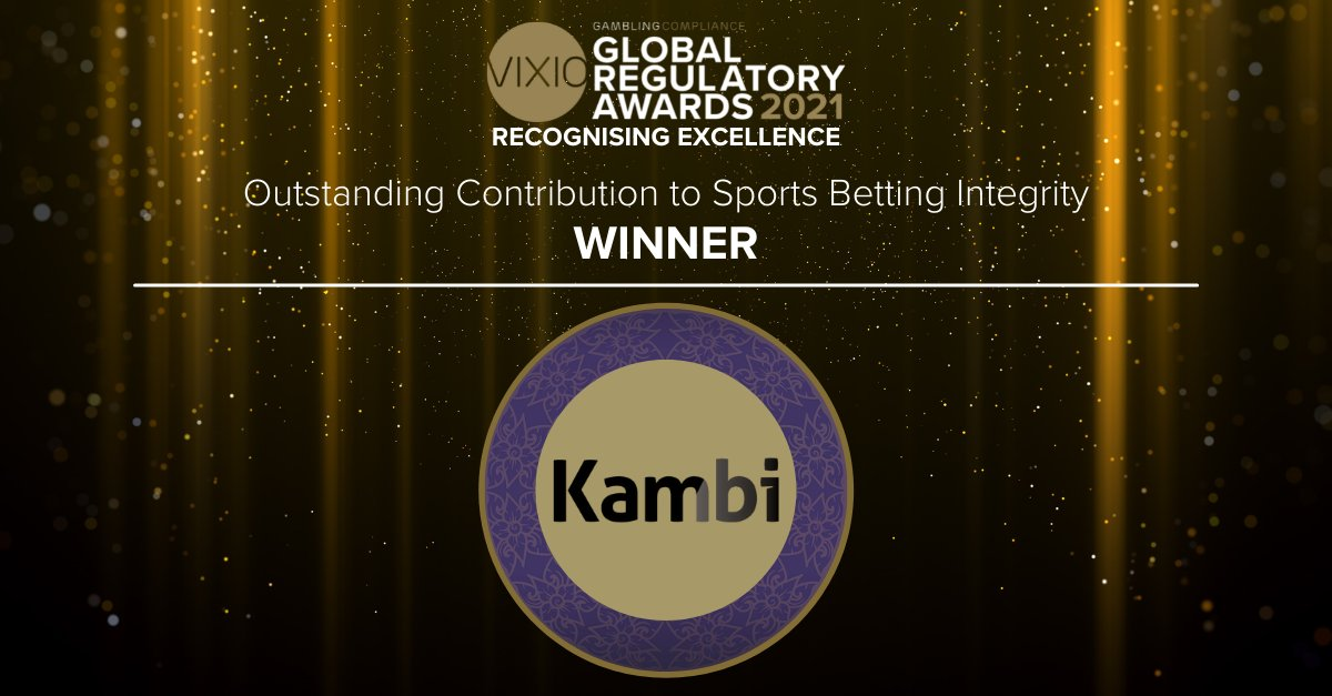 👏Congratulations to @KambiSports for winning the @GamblingComp Award for the Outstanding Contribution to Sports Betting Integrity   #GRA2021