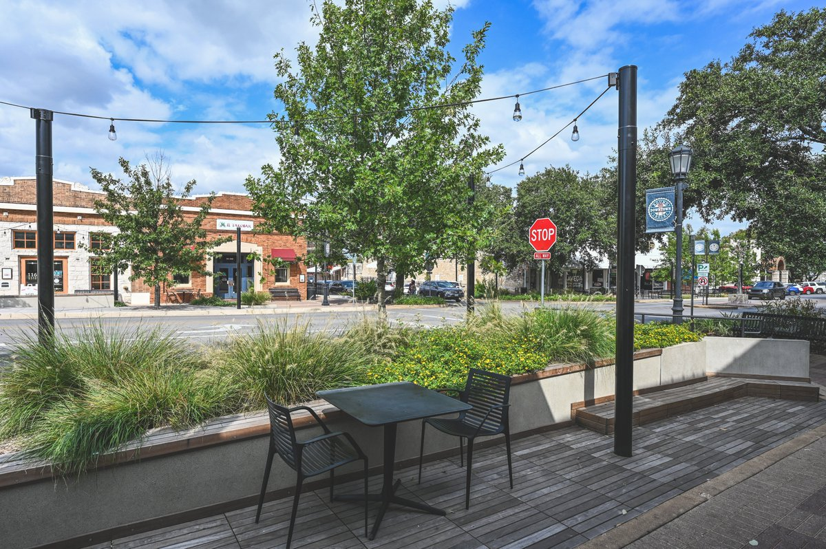 We love these new spaces! Enhanced landscaping, additional lighting and pedestrian friendly seating!