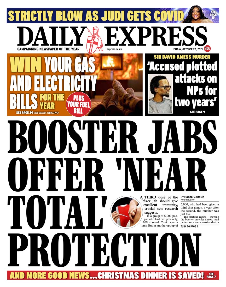 EXPRESS: Booster jabs offer 'near total' protection #TomorrowsPapersToday