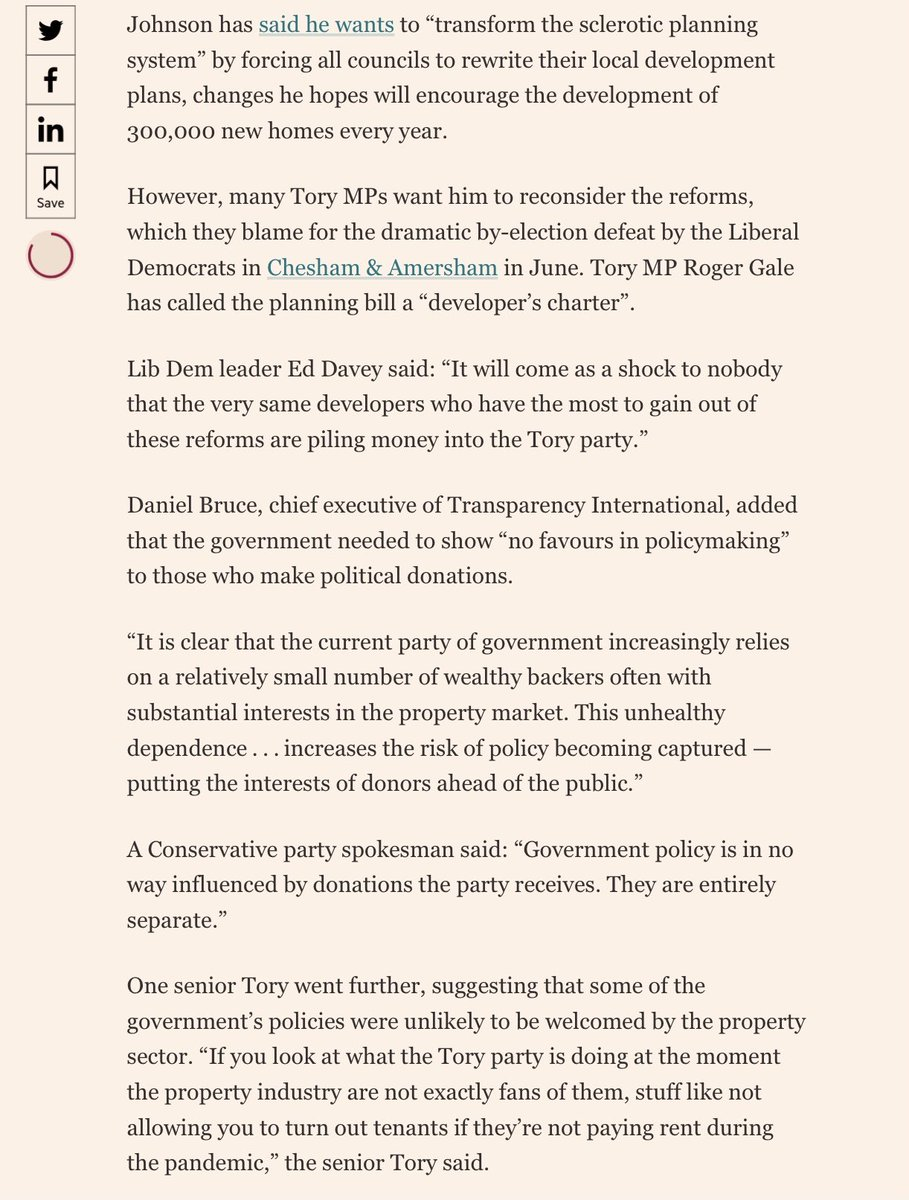 #Buildingsafetycrisis #financialdonation #ConflictOfInterest The Conservative party has received almost £18m in donations from 154 donors with property interests since Boris Johnson became UK prime minister two years ago, according to Financial Times analysis.