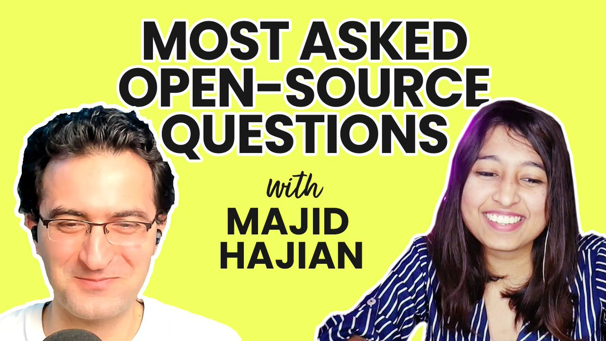 Questions you have always wondered about open-source: ▶️ How to navigate a large codebase? ▶️ Start with issues first or reading codebase first? ▶️ How does the choice of editor help? Your most asked questions answered by @mhadaily in the latest video 👇 youtu.be/102mcdhBQXE
