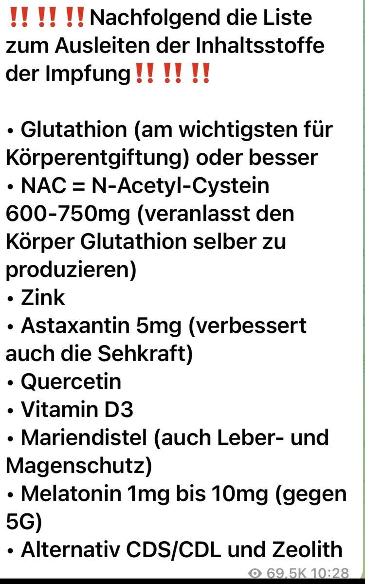 test Twitter Media - @TransTexan Glutathion om te ontgiften. Acetylcysteïne. En onderstaande middelen zijn het proberen waard. Ivermectine, maar dat krijg je waarschijnlijk nergens. ( is overigens een normaal geneesmiddel tot Corona 🙈. Werd voor Q koorts ook gebruikt. En idd ook om te ontwormen. https://t.co/4V0t8r9pMI