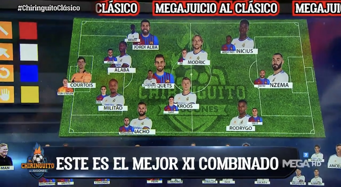 El Chiringuito have just made their own. Only Busquets and Jordi Alba make it. https://t.co/znzSMfEfXh