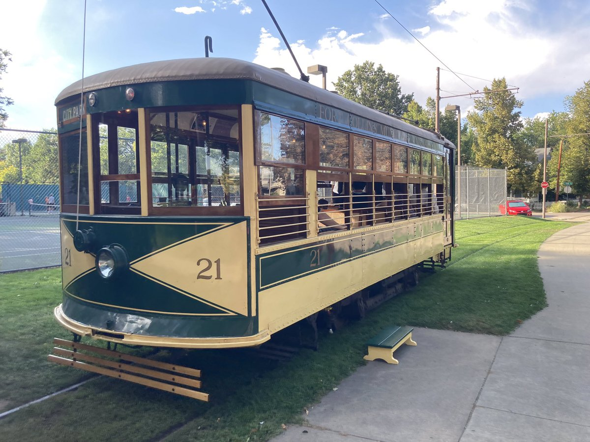 Looking fine in the sunshine! 🤣  #FortCollinsTrolley #streetcar #trolley #thingstodo #sunnyday