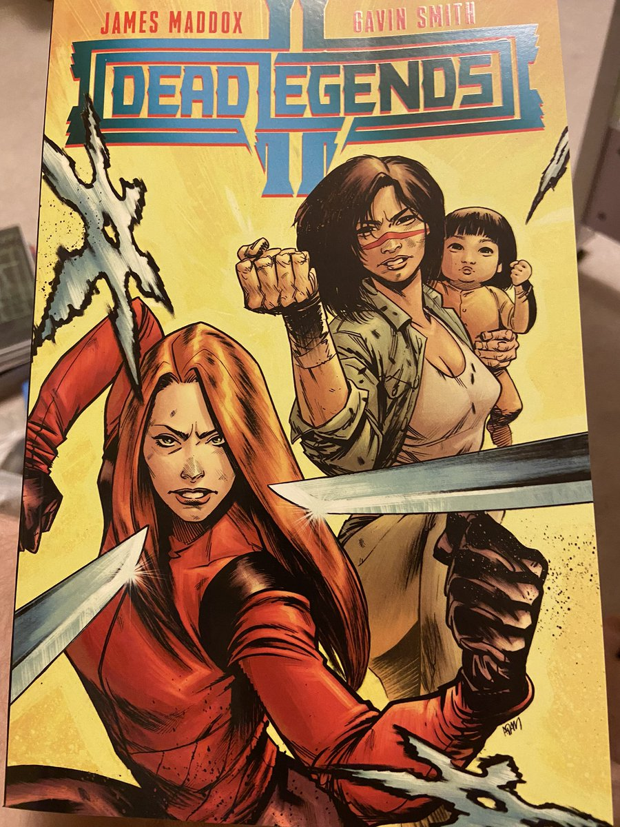 Finally had time to read Dead Legends II by @jamescmaddox & @gavinpsmith The fourth issue was so dope I had to set the book down for several minutes and take some deep breaths. As a bonus it has an amazing cover by @AdamTGorham