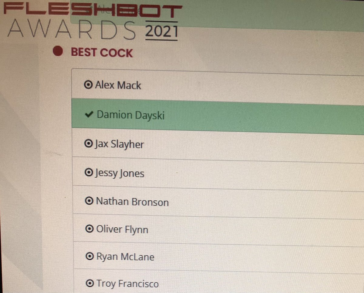I didn't hesitate to vote for @DayskiiD in this category 🍆😜💦