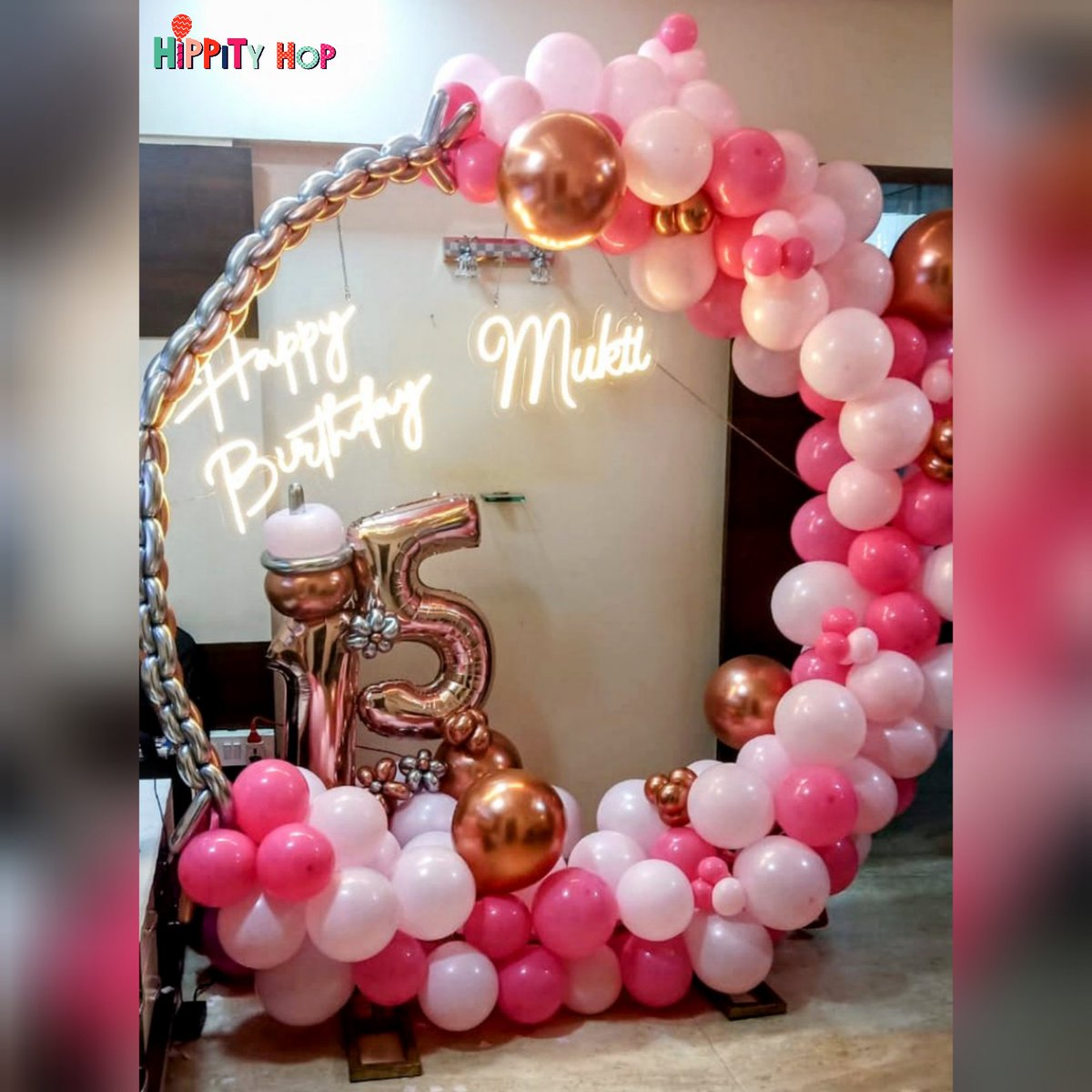 Unforgettable birthday decorations for a stylish party   #hippityhopstore #birthdaypartydecor #birthdaydecorations #partydecorations #pinkdecor #pinkballoons #octoberbirthday #birthdayideas #birthdaysurprises #birthdaymumbai #birthdayparty #birthdayexcitement #funtime