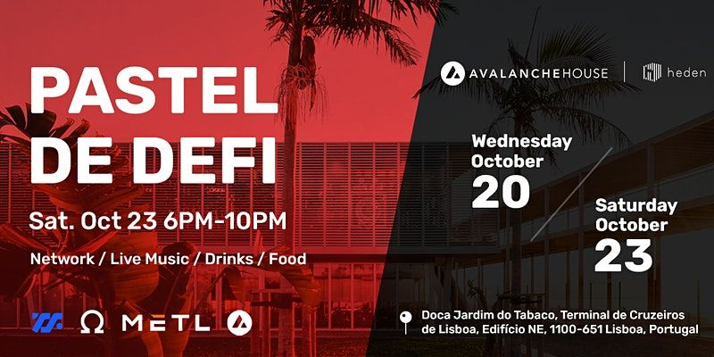 Looking for a fun networking event during Lisbon Blockchain Week? Check out our after hours event TOMORROW, co hosted with @avalancheavax, @metlco, @OlympusDAO, and @Maven11Capital below. Be sure to come searching for some yummy Pastels! RSVP: bit.ly/3GfAG2u