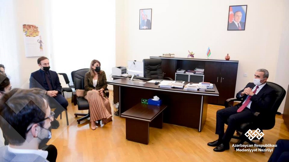 """""""Big Idea Challenge"""" müsabiqəsinin qalibləri ilə görüş keçirildi.  Ətraflı: bit.ly/3nbjhPG   #MinistryforCulture #MədəniyyətNazirliyi #Azerbaijan #Azərbaycan #culture #mədəniyyət"""