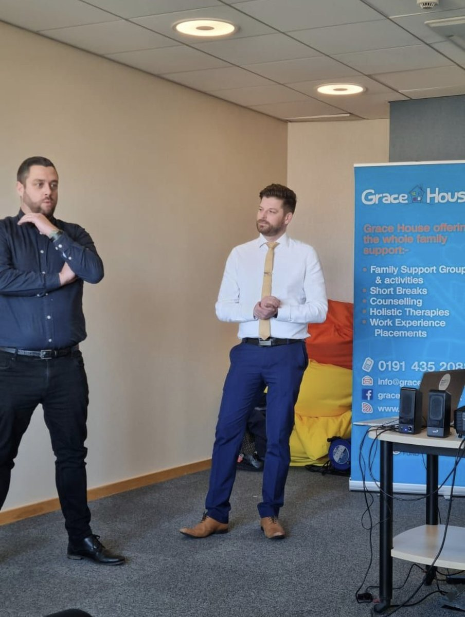 Last week John and Jamie were guest speakers at @GraceHouse10 Network for Good event.  In the light of World Mental Health Day 2021, they talked about spotting the signs of mental ill health in family and friends.  #mentalhealth #mentalhealthawareness #network