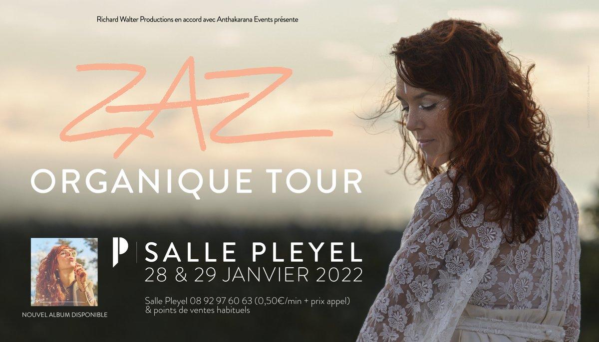➖ZAZ➖ Aujourd'hui sort le nouvel album de @Zaz_Official, « ISA ».  L'artiste sera de passage à la @sallepleyel pour vous le présenter les 28 & 29 janvier 2022 !    BILLETTERIE : https://t.co/Y1PLf