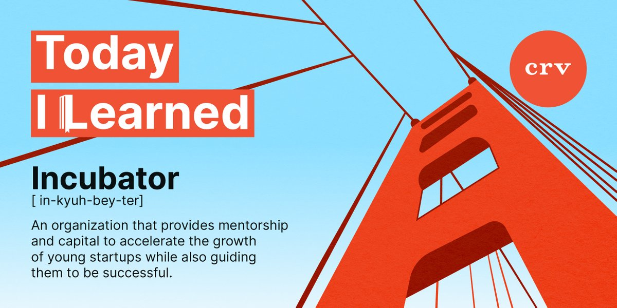 In this week's edition of #TodayILearned we're going back to the beginnings and learning one way fledgling startups often get 'hatched.' 🤓  #PowerToThePerson #CRV #VentureCapital
