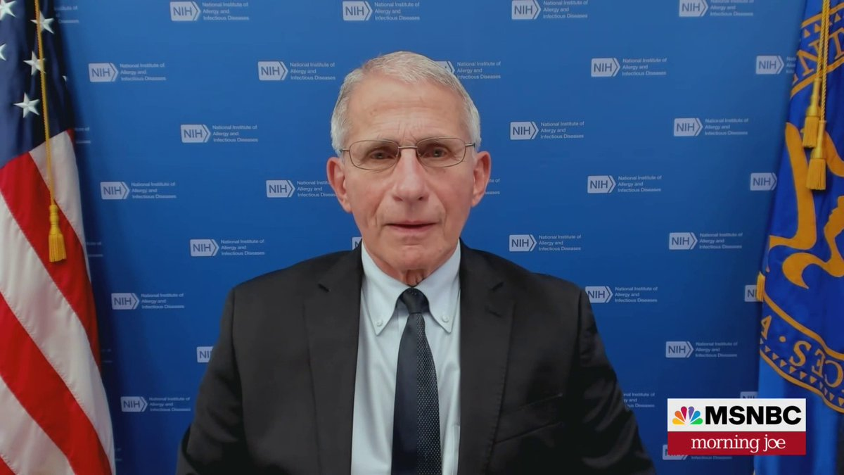 Joining us now: Dr. Anthony Fauci