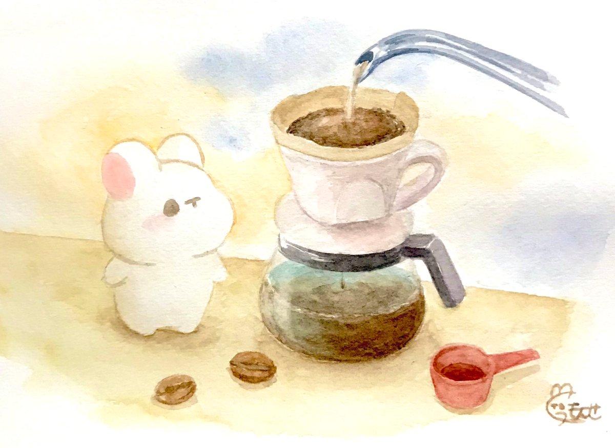 ドリップコーヒーの日らしいので水彩で描いてみました。コーヒー大好きなので楽しかったです☕️#ドリップコーヒーの日  #水彩