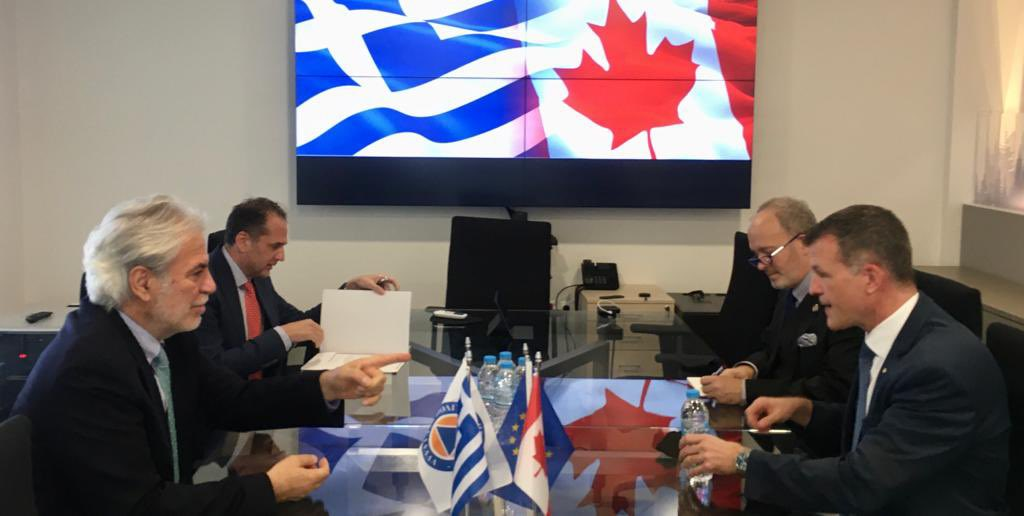 Πολύ εποικοδομητική συνάντηση με τον Πρέσβη του #Καναδά Mark Allen @MAllenDiplomat. Ενισχύουμε τη διμερή συνεργασία μας στο πλαίσιο των άριστων σχέσεων 🇬🇷🤝🇨🇦 με την ανταλλαγή τεχνογνωσίας στο επίκεντρο. Αντιμετωπίζουμε μαζί την #κλιματικήκρίση. @CanadaGreece @GreeceInCanada