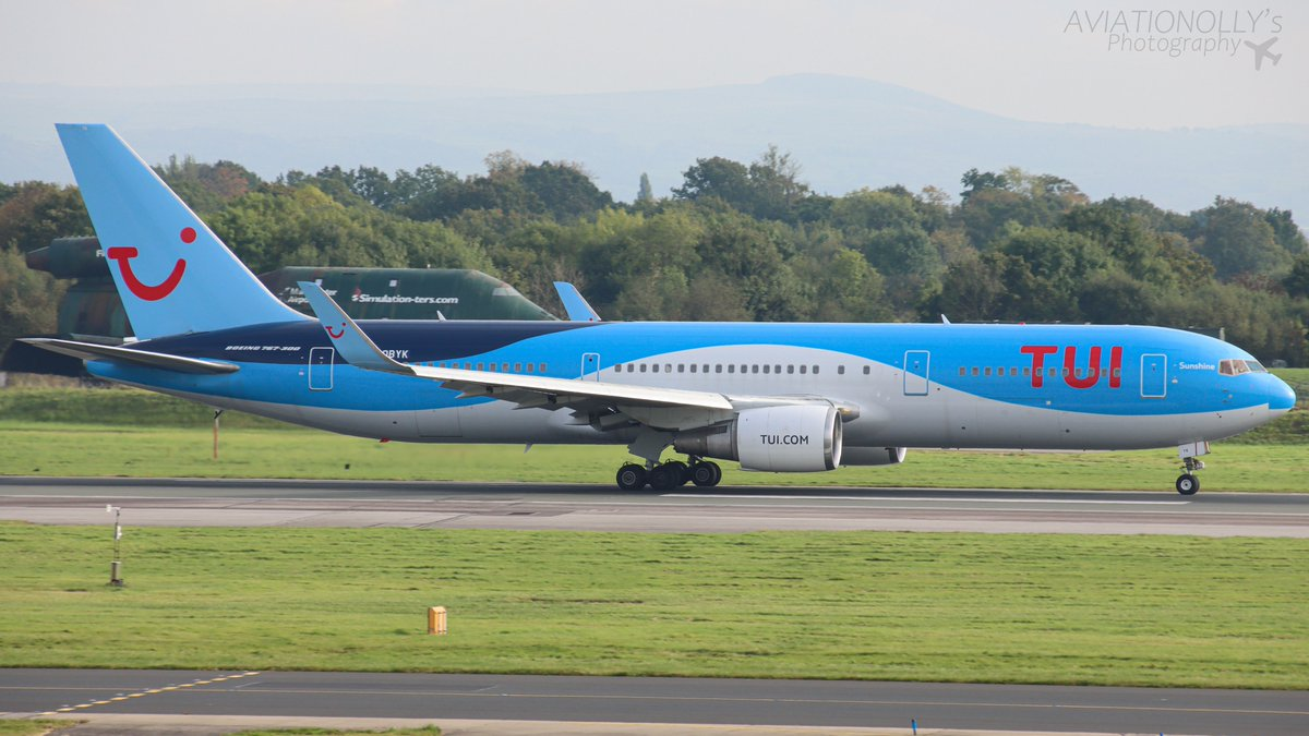 TUI B767-38A(ER) Registration: G-OBYK Very sad to see that TUI are starting to phase out their B767s. Here is an B763 departing to Fuerteventura in the afternoon. @manairport @TUIUK #B767 #Boeing #planespotting #AvGeek #photography #photographer