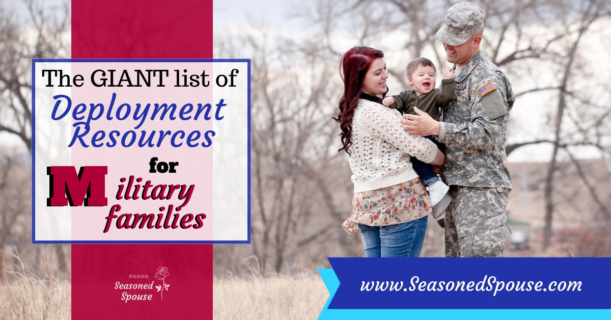 Have you seen this? A GIANT list of 70+ resources to help military families during deployment! Know someone who might need them?  RT with your favorite deployment resource. bit.ly/2NH5VqK  #ThisisDeployment #milspouse #milso #militarydiscount