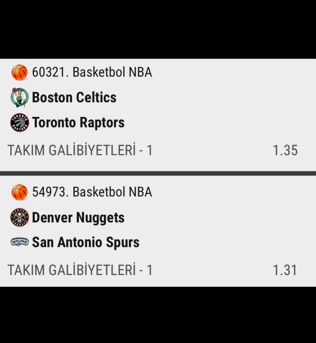 #NBA75   Makul ikili #S8  Oran 1.77  Oynamak için bit.ly/2Odo5T6