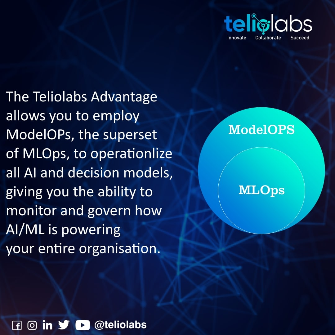 ModelOps and the Teliolabs Advantage  To know more, DM or Call us at +1 415 805 7417 or contact@teliolabs.com   #businessstrategies #businesslife  #webdeveloper #datascience #datascientist #machinearningtools #datamodeling #quantumcomputing #automation #deployment #integration