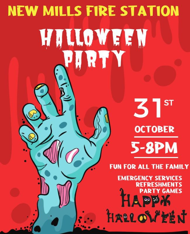 Come and meet your local firefighters 🚒 #halloween2021 #funforallthefamily @DerbyshireFRS @VisitNewMills
