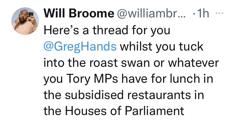 After a week or so hiatus, the low-level abuse has restarted.   Worth noting I get far less of this stuff than many MPs, particularly women MPs (of all parties).
