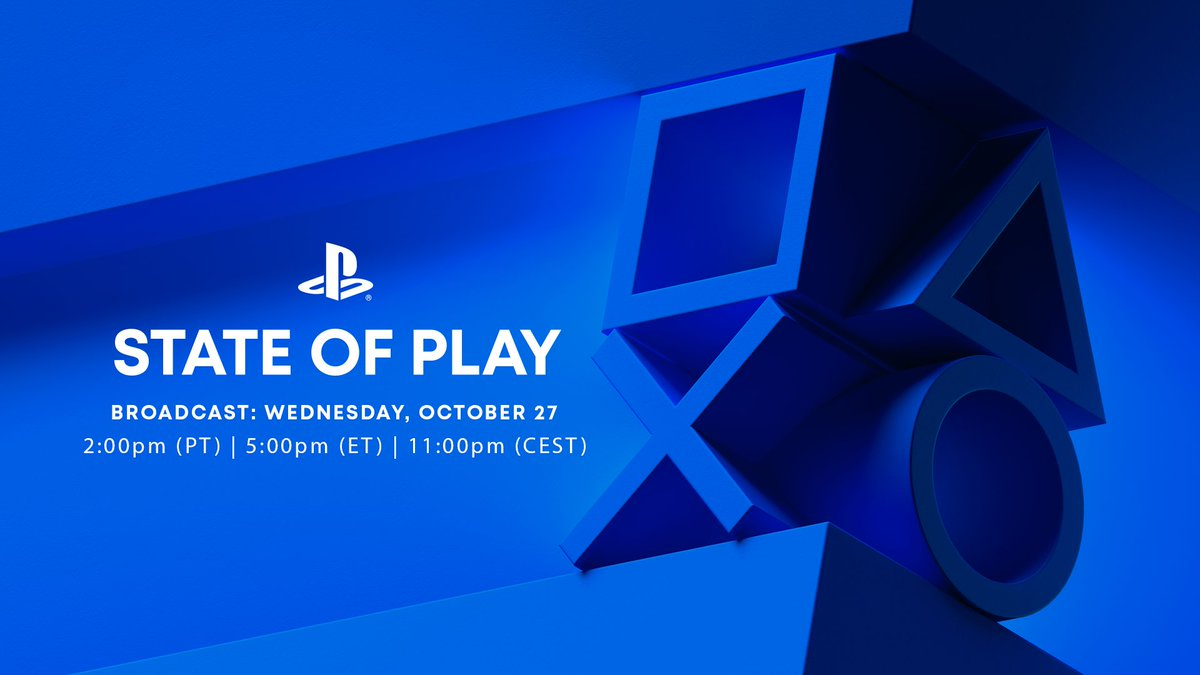 A new State of Play is heading your way next Wednesday, October 27 starting at 2:00pm PT / 10:00pm BST.   Full details and what to expect: