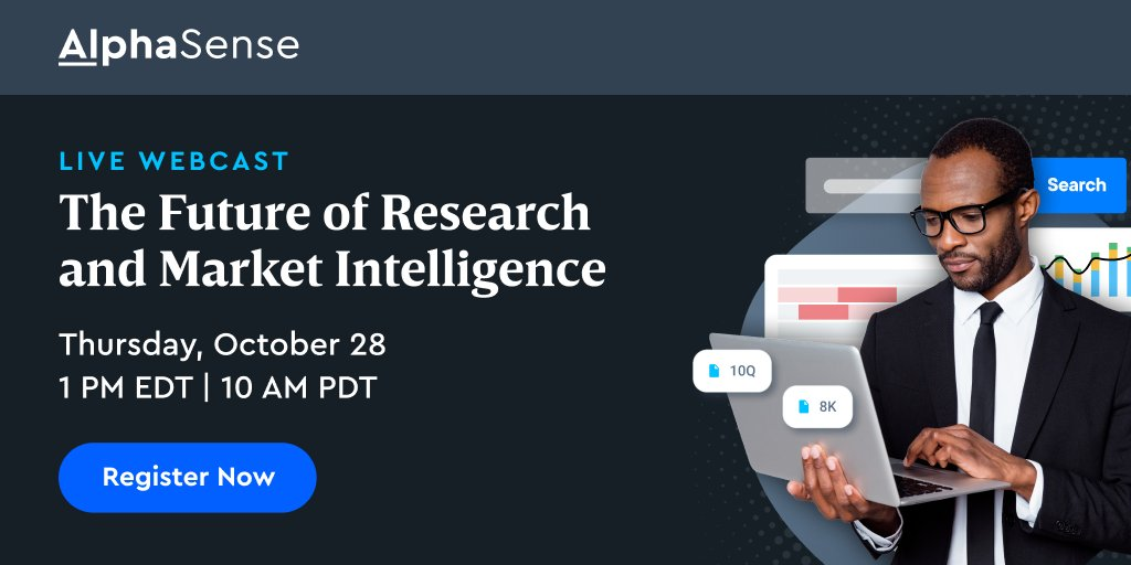 test Twitter Media - Next Thursday @ 1PM EDT: join us for a deep dive into the trends driving research to a new age of automated insights.  Save your spot 👉 https://t.co/pJHkItfWI1  #AlphaSense #MarketIntelligence #MarketResearch #ResearchTechnology #CompetitiveIntelligence #FinancialResearch https://t.co/yKDRZa14sd