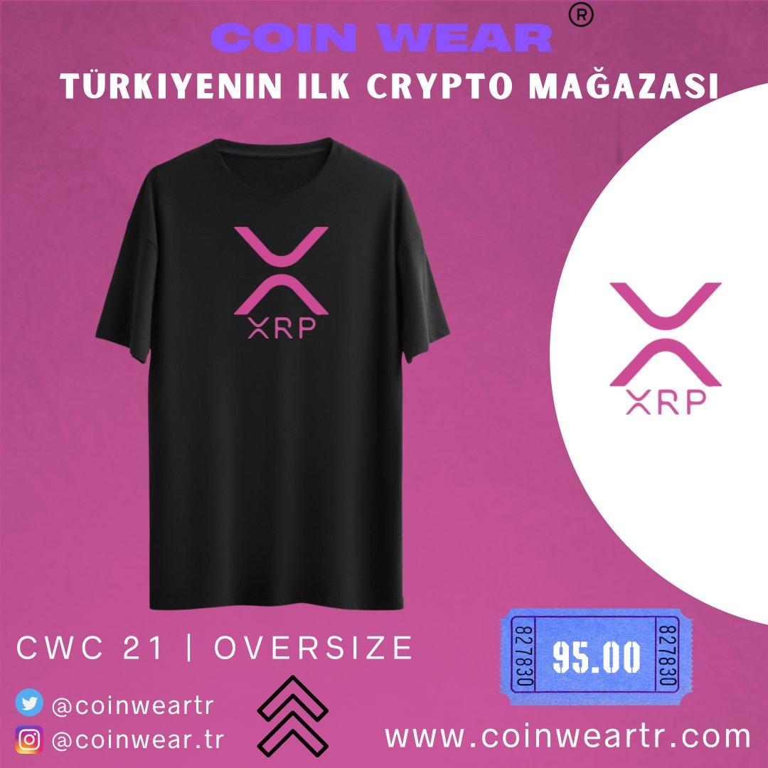 Coinwear XRP Pink Oversize T-shirt 🔥  Hayatımızın her yerinde olmaya başlayan kripto dünyasını giyilebilir hale getirdik !    #ALTSEASON