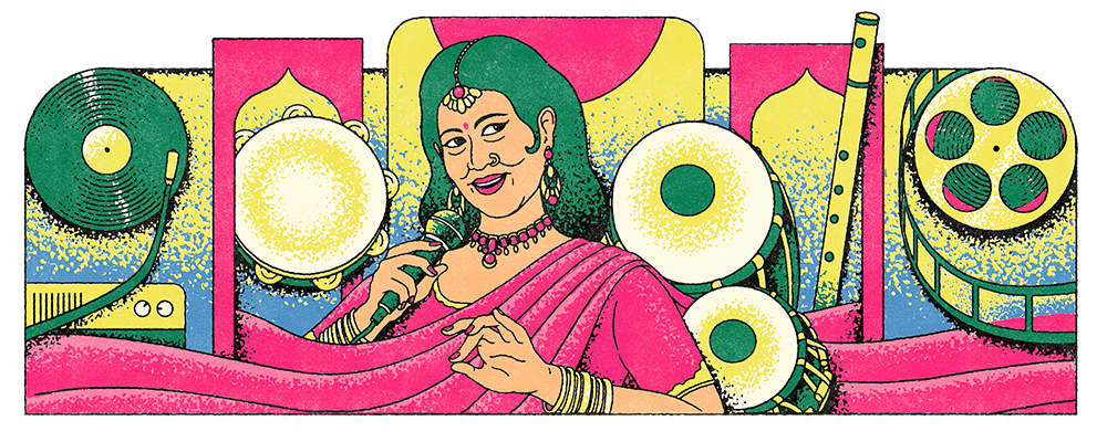 Today's Google Doodle celebrates the 93rd birthday of the legendary Ellya Khadam. Doodle illustrated by Fatchurofi Muhammad. https://t.co/hi6SpdlgSP