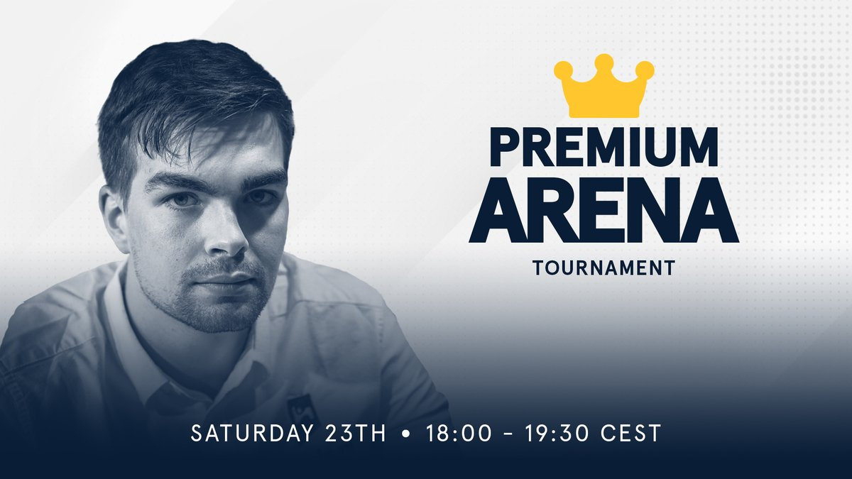 test Twitter Media - Our Premium Arena Tournament is back! This time you can play Dutch GM @jordenvforeest and other members of the premium club for a chance to win cool merch! Join the fun this Saturday at 6:00 PM CEST (12:00 PM ET / 9:30 PM IST): https://t.co/8xUcrq26PK https://t.co/qQXGFUy3PM