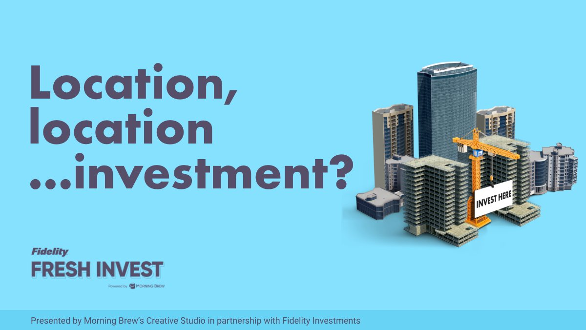 How do you finish a week strong? By boning up on real estate, that's how.   Check out Episode 7 of Fresh Invest, our investing podcast with @Fidelity.   Listen here: fidelity.com/freshinvest