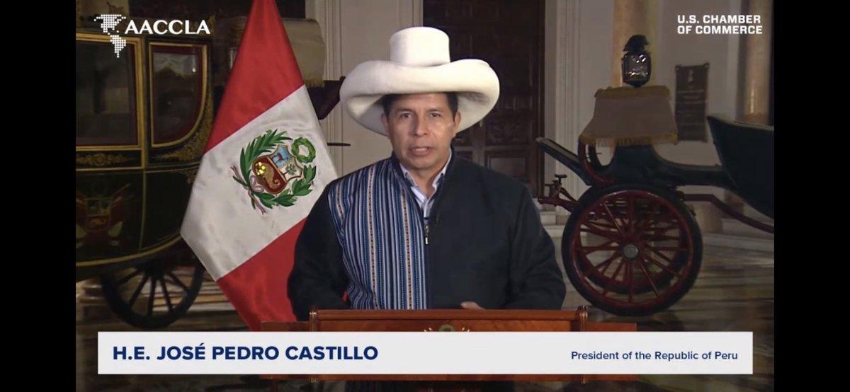 test Twitter Media - Now on, HE @PedroCastilloTe, President of @presidenciaperu keynoting the #AACCLA #FOLAC2021 https://t.co/545FRsANFC