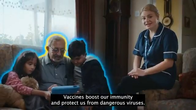 Image for the Tweet beginning: 🔵 Get vaccinated 🟡 Get boosted ⚪
