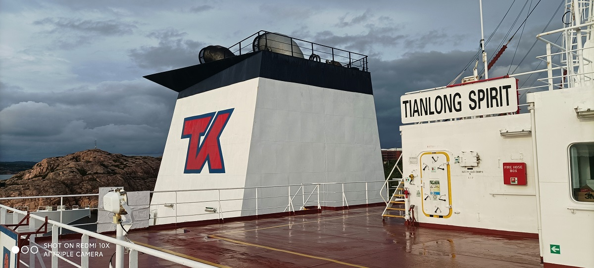 test Twitter Media - 📸 #photoalert!   Thank you Second Officer Chen for these stunning snippets of the Tianlong Spirit docking in Sweden. #TeekaySpirit https://t.co/goGnoKoh1T