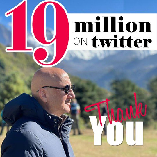 Thank you my wonderful fans, followers and friends for your love, warmth, constructive criticism and appreciation. We are a family of 19 million on #Twitter now. You all make my journey of life happy and inspirational! Jai Ho! 🙏😍👏 #Gratitude #Happy #Humbled @twitter