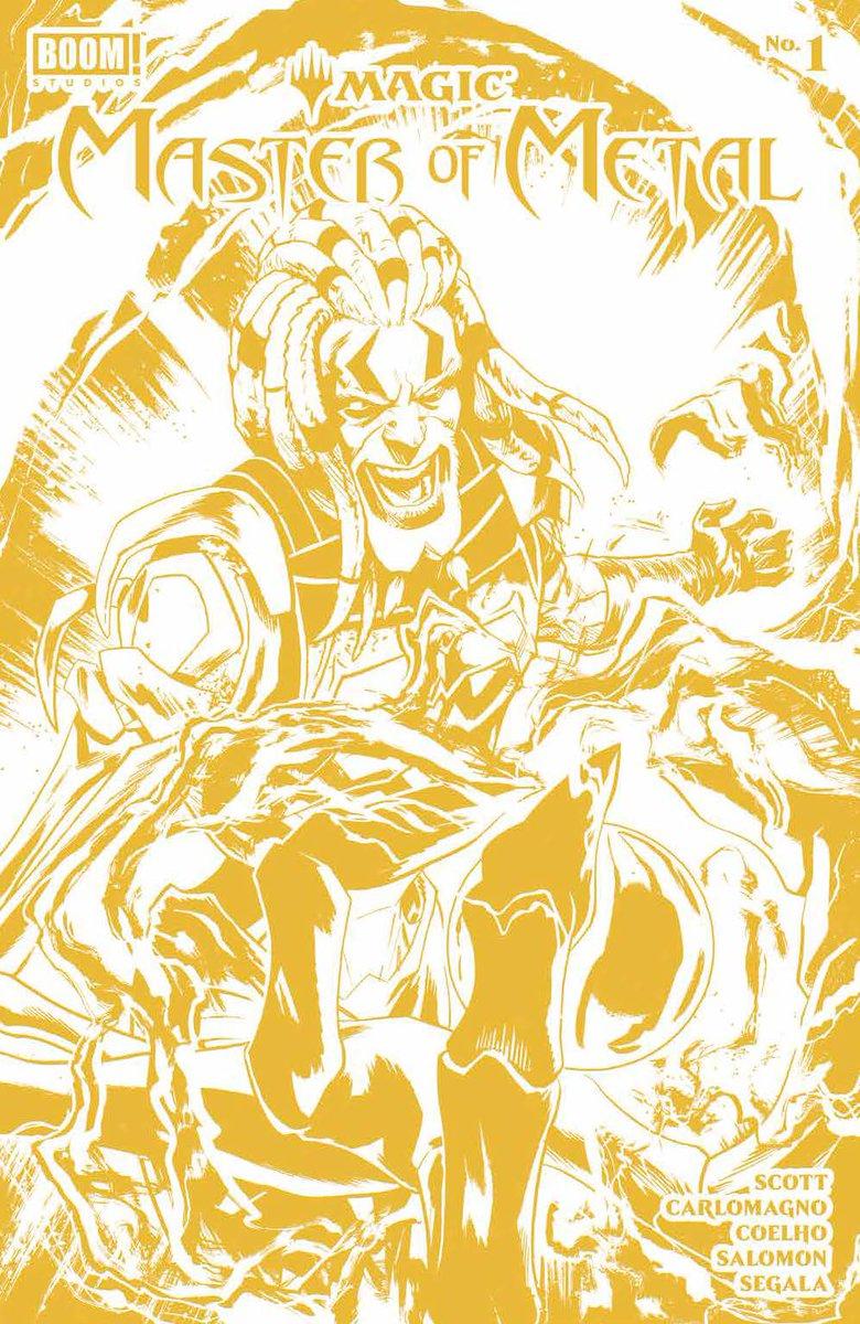 Magic: Master of Metal #1 (FOC 10/25) W:@MairghreadScott A:@JCoelhoPT, @french86 & Jacques Salomon C:@FrancescoSegala L:@eDukeDW @AdamTGorham Foil Stamp Var: SEP210748 1:10 @merkymerx INCV Connect Cover: SEP210749 1:25 @AdamTGorham INCV Gold Foil Stamp: SEP210750 #FOCFriday (3/8)