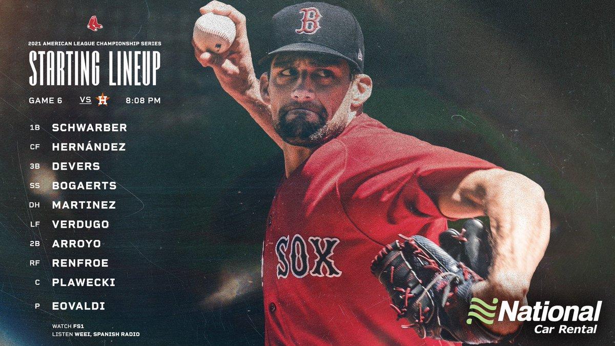 [LIVE] (MLB) BOS @ HOU 2021美聯冠軍系列戰 G6