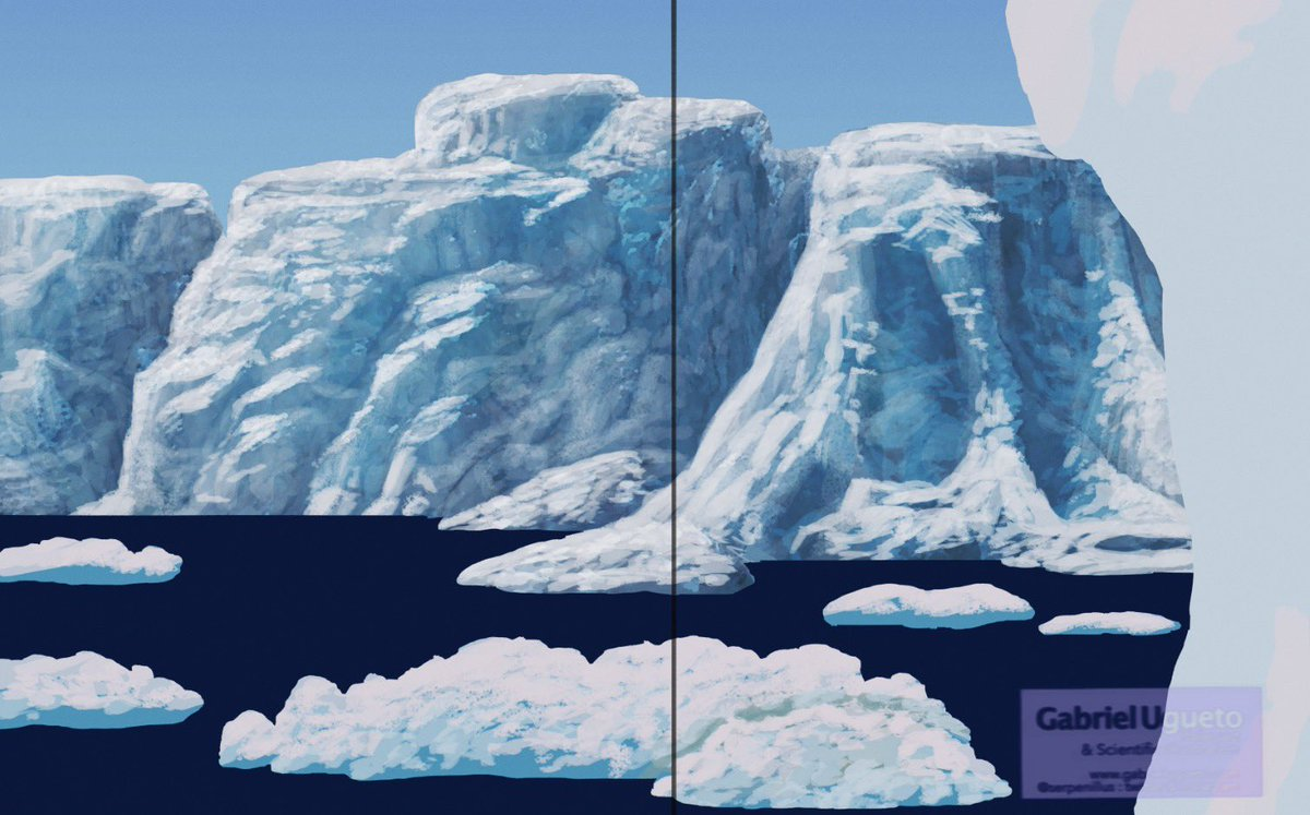 There's something relaxing about painting frozen areas and ice… and more ice. WIP (early stages)