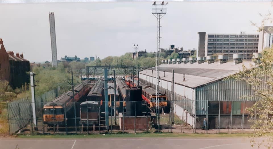 Hyndland Train Depot, #Glasgow, 1987. Now Hughenden Gardens Housing. (Paul Strathdee)