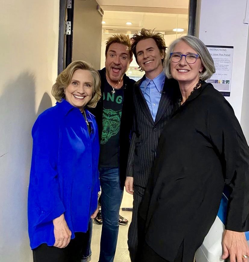 Hillary with Duran Duran in London today