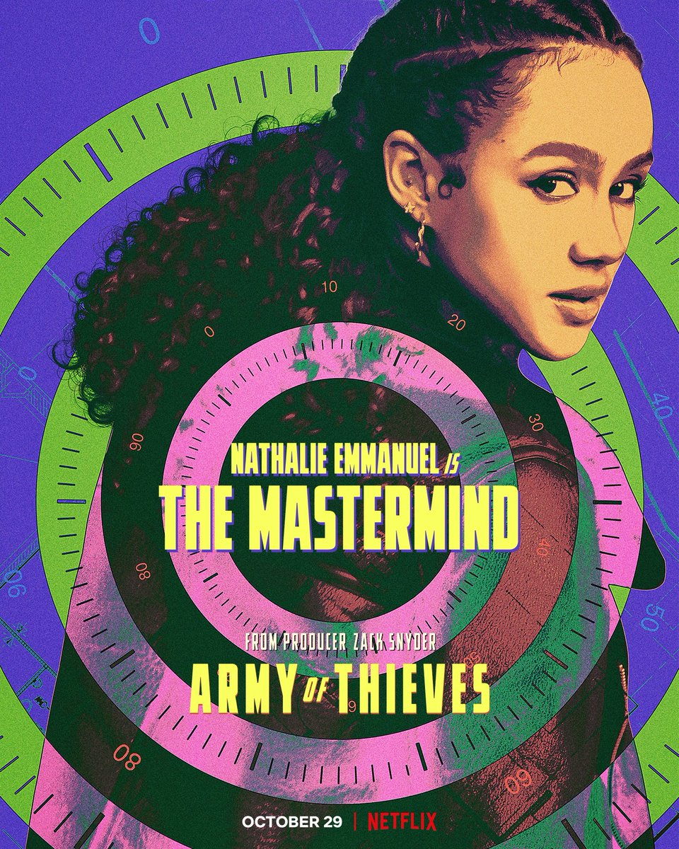 """Nuevos posters de """"ARMY OF THIEVES"""", precuela de """"Army of the Dead"""".💰🔐  Estreno el 29 de octubre en Netflix. #TUDUM #ArmyofThieves #ArmyOfTheDead  Vía: @ZackSnyder"""