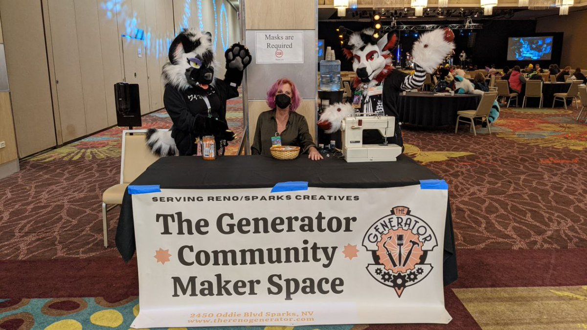 Need some repairs on your fursuit? Want to learn some hand stitches for quick fixes? Seams on your suit have ridges with itches?   Nicolette from The Generator will have your suit repaired or just teach you a thing or two about seaming!  At charity row just infront of 2nd stage!