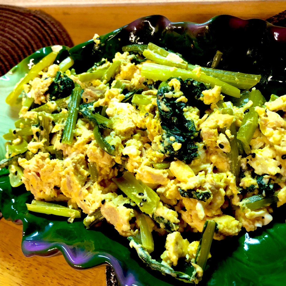 「シンプル!小松菜と卵の中華炒め」()#ぱぱぴえん #クラシル #kurashiru #ランチ #昼めし旅 #料理下手くそ選手権
