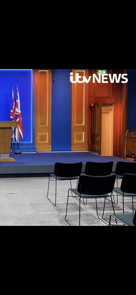 Still feels like a very expensive costly wasteful #vacuum at the heart of #politics.  £2.6m for a multi-media room to run few #DrowningStreetBriefings What was the justification for using #toryparty blue paint? Are there spare colour panels ready for other parties / coalitions?