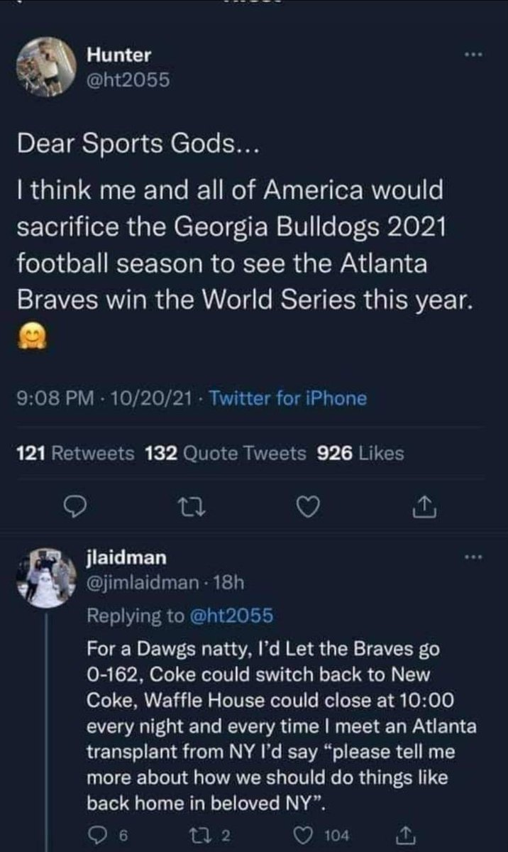Sorry Hunter, but I'm with Jim on this!!! #GoDawgs 🐶🐾❤🖤❤