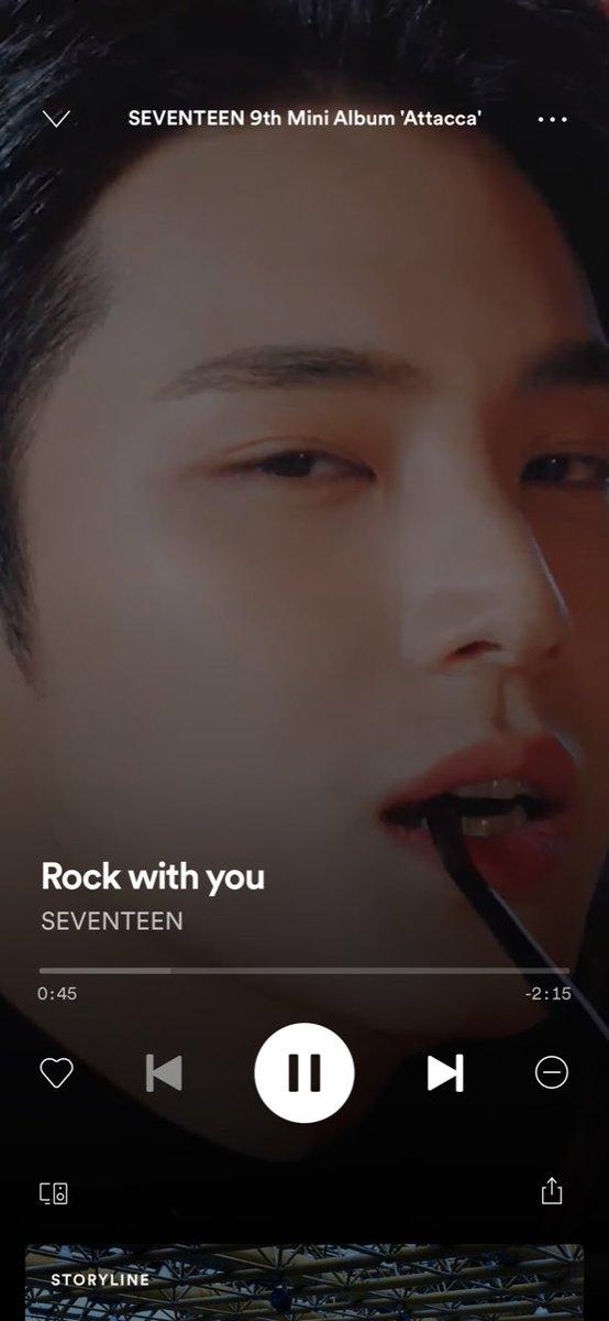 「Spotify」でSEVENTEEN9th Mini Album「#Attacca」タイトル曲「Rock with you」を再生すると、背景にオリジナル動画が再生されます🎵ぜひSpotifyアプリから、Instagramのストーリーズにシェアしてみてください🎧✨▶「#Spotify」で再生@SpotifyJP #SVT_Rockwithyou