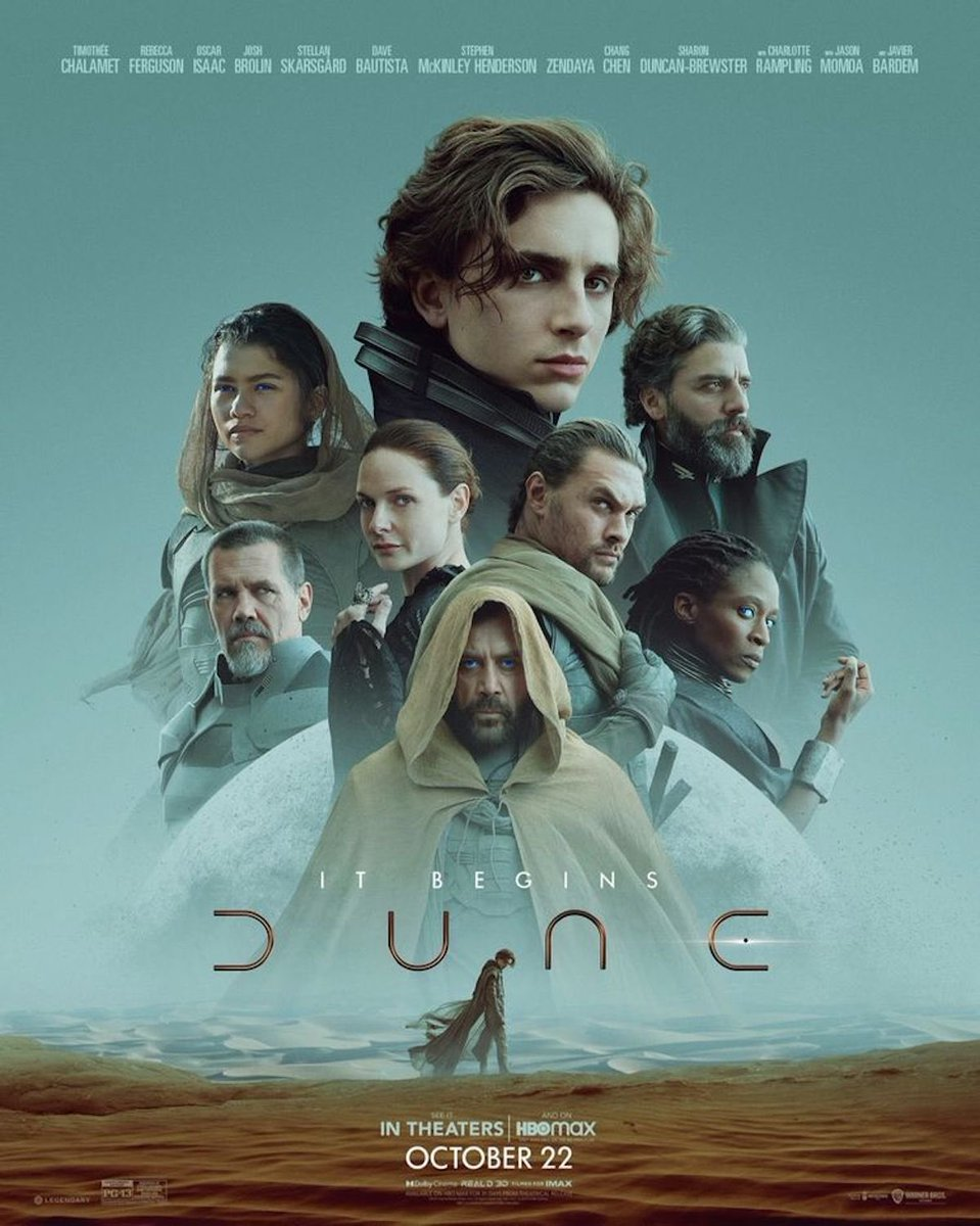 Villeneuve delivers a truly epic film, it needs to seen it on the biggest screen possible.  Its massive world building will leave you wanting more. #Dune #LadyJessica #CHANI #leto #DuncanIdaho #baron #GurneyHalleck #stilgar #lietkynes #MovieReview #harryatthemovies https://t.co/kEJrxcbHDk.