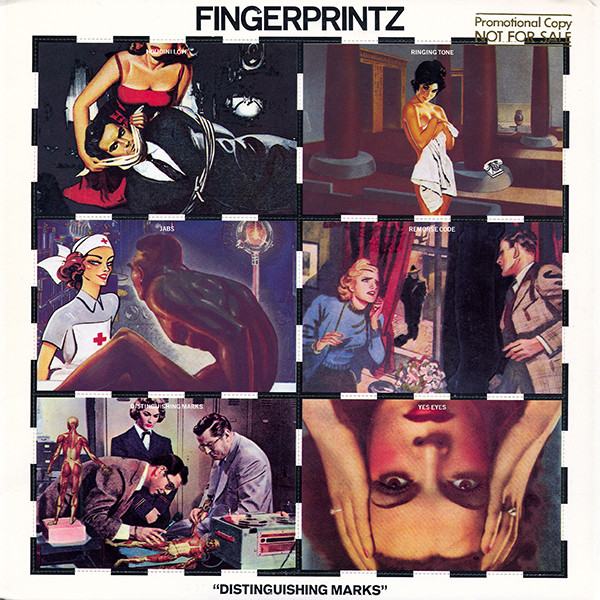 Albums of Scotland: Fingerprintz –Distinguishing Marks (1980). New Wave band formed in 1978. Recorded a session for the John Peel Show, 28 November 1978. Band members Jimme O'NeillandCha Burns later formed The Silencers.