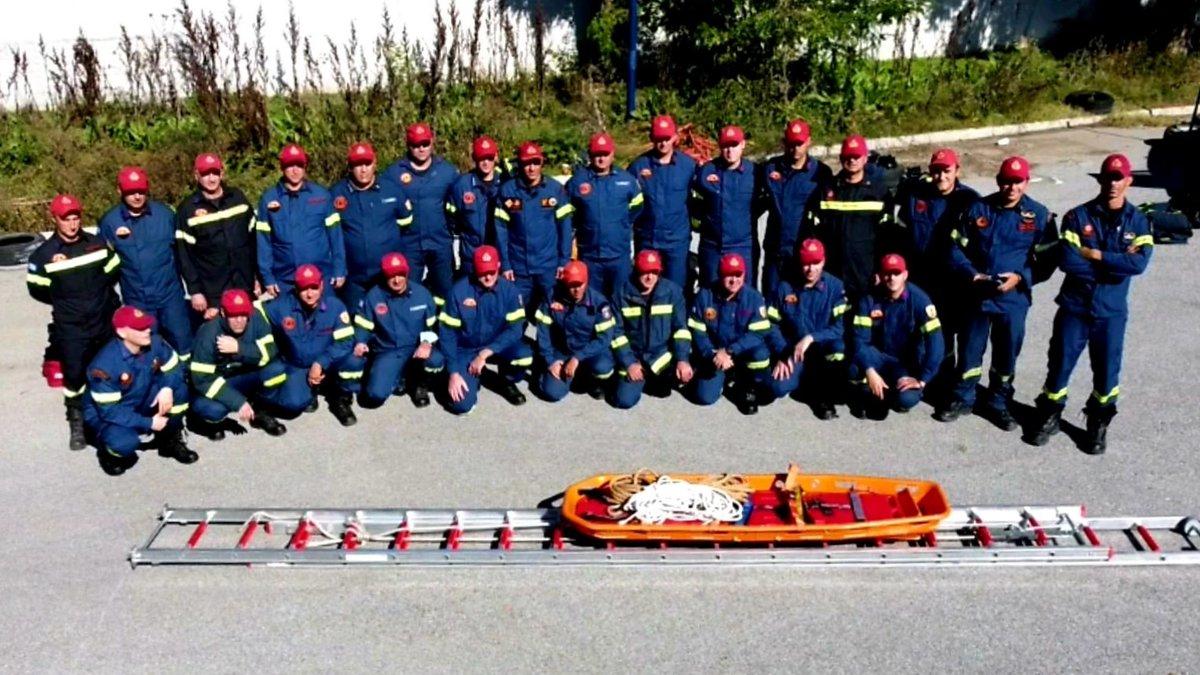 Η 'Εκπαίδευση Εκπαιδευτών' πυροσβεστών πραγματοποιήθηκε στις εγκαταστάσεις της Σχολής Πυροσβεστών στην Πτολεμαΐδα. 📌bit.ly/3m3L3OK