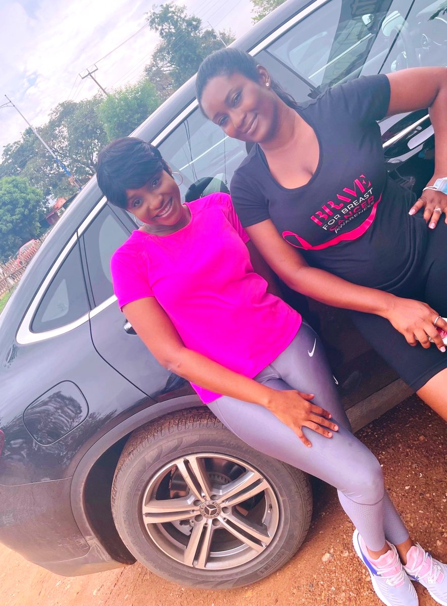 Supporting @tracysarkcess @braveconnectgh's walkathon to mark breast cancer awareness month.  Be brave . Get tested and screened today.  #breastcancerawareness #breastcancerawarenessmonth #breastcancerawreness🎀